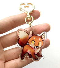 Load image into Gallery viewer, Red Fox Keyring Charm