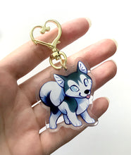 Load image into Gallery viewer, Husky Dog Keyring Charm