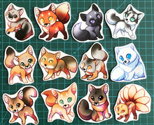 Load image into Gallery viewer, Cute Fox Sticker Set