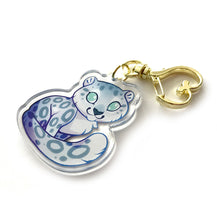 Load image into Gallery viewer, Snow Leopard Keyring Charm
