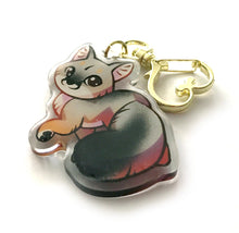 Load image into Gallery viewer, Gray Fox Keyring Charm