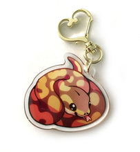Load image into Gallery viewer, Ball Python Keyring Charm