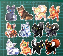 Load image into Gallery viewer, Cute Warrior Cats Sticker set