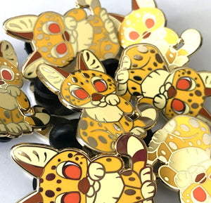 Serval Lucky Cat Enamel Pin