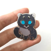 Load image into Gallery viewer, Black Panther Lucky Cat Enamel Pin - Normal