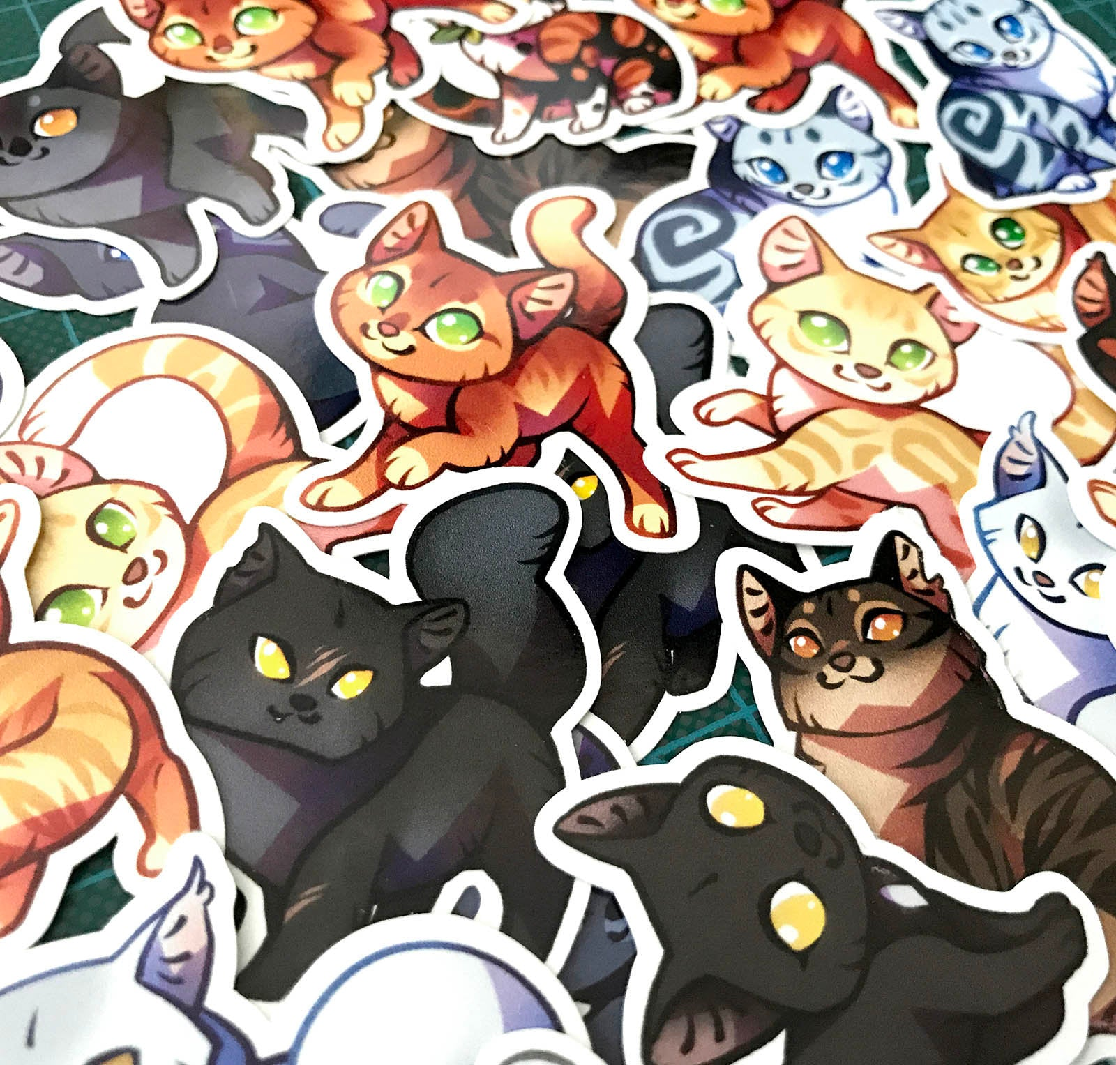 Cute Warrior Cats Sticker set