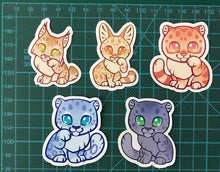 Load image into Gallery viewer, Cute Lucky Wild Cats Sticker Set