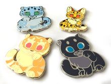 Load image into Gallery viewer, Serval Lucky Cat Enamel Pin