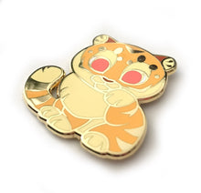Load image into Gallery viewer, Tiger Lucky Cat Enamel Pin