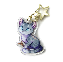 Load image into Gallery viewer, Jayfeather Cat Keyring Charm