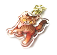 Load image into Gallery viewer, Leafpool Cat Keyring Charm