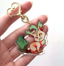 Load image into Gallery viewer, Leafeon Keyring Charm