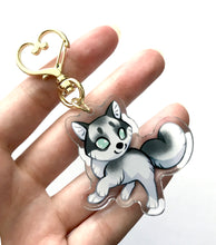 Load image into Gallery viewer, Marble Fox Keyring Charm