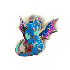 Nebula Dragon Enamel Pin