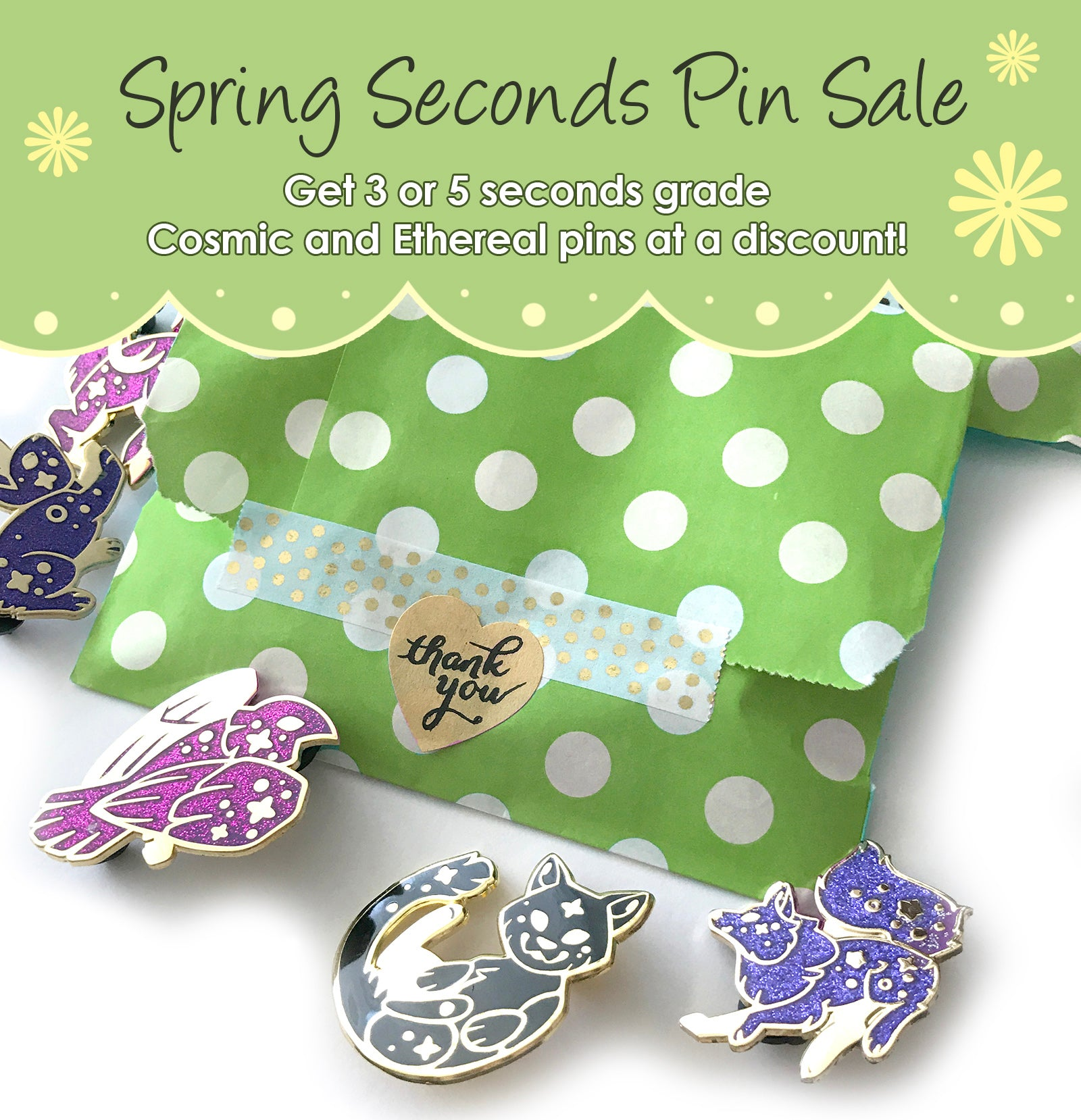 SPRING SECONDS PIN SALE - Mystery Grab Pin Bag