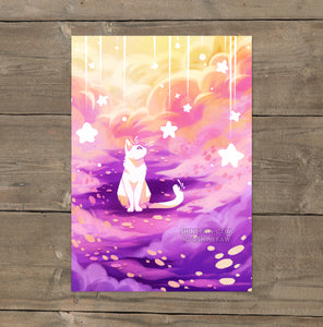 Wishing Cat - Art Print
