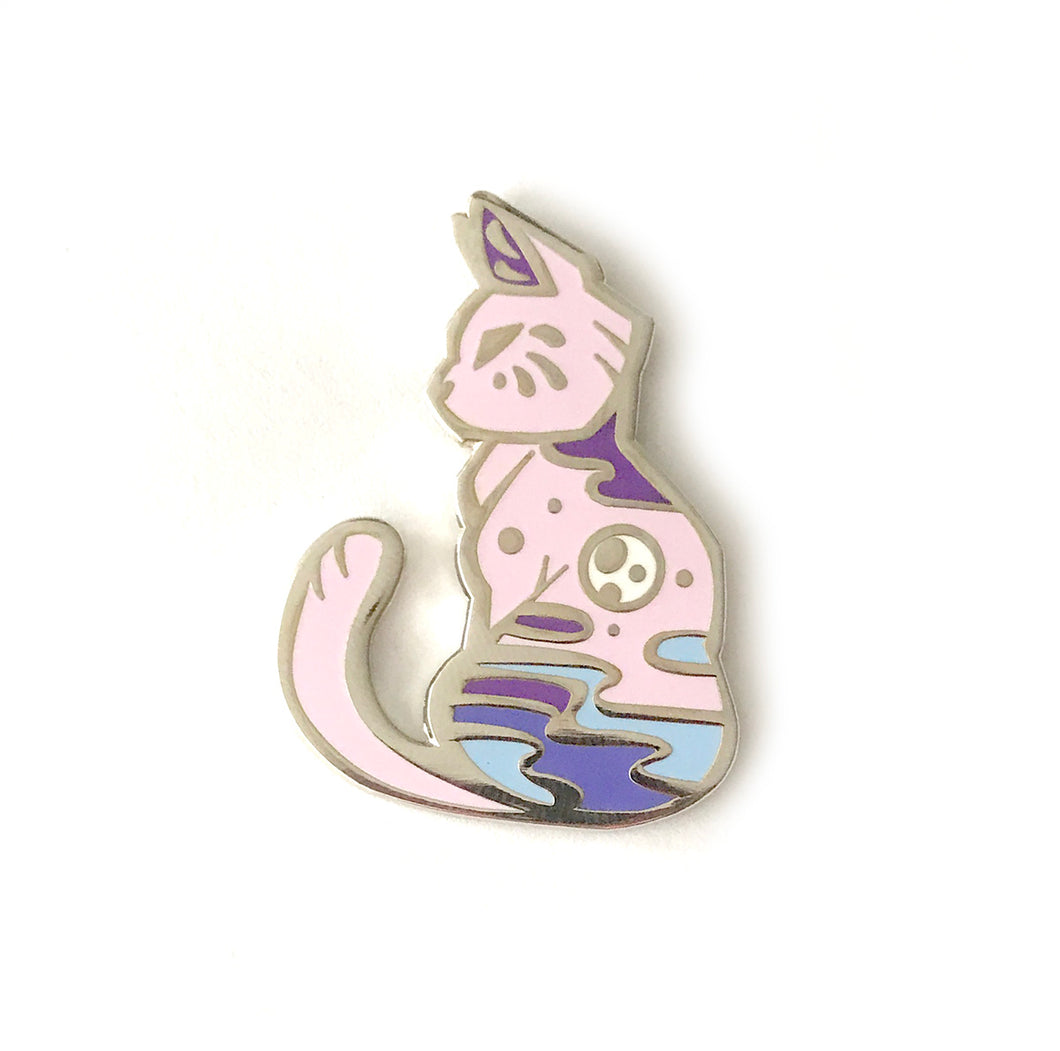 Purple Moon Cat Enamel Pin