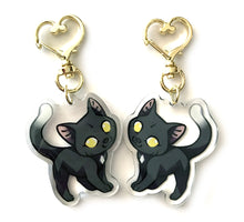 Load image into Gallery viewer, Ravenpaw Cat Keyring Charm