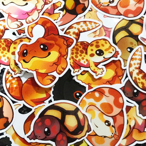 Cute Reptiles Sticker Set