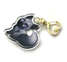 Load image into Gallery viewer, Silver Fox Keyring Charm