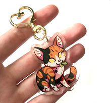 Load image into Gallery viewer, Spottedleaf Cat Keyring Charm