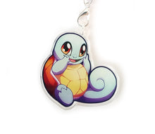 Load image into Gallery viewer, Chibi Squirtle Keyring Charm