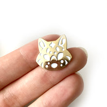 Load image into Gallery viewer, Mini Star Wolf Head Enamel Pin
