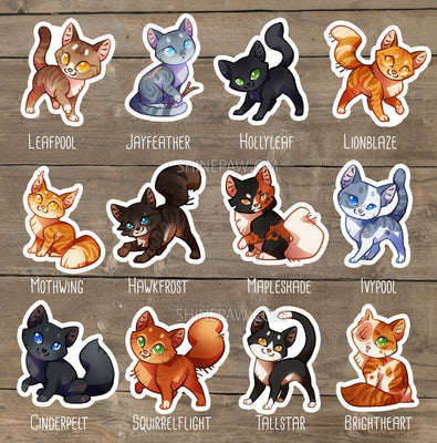 Warrior Cats Sticker set II