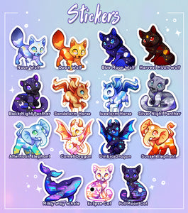 Ethereal Familiars Sticker Set