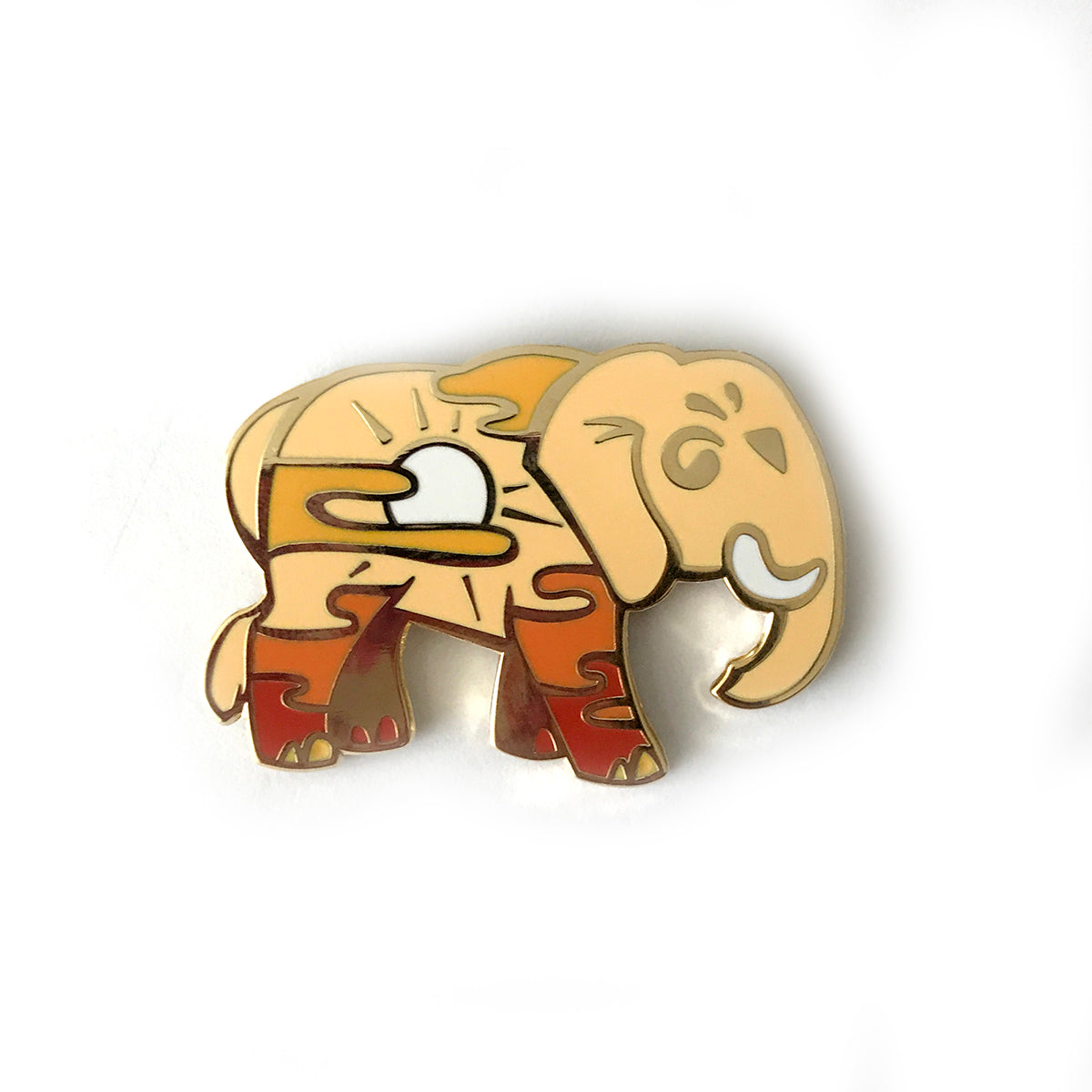 Sunset Elephant Enamel Pin