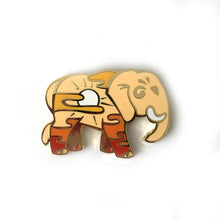 Load image into Gallery viewer, Sunset Elephant Enamel Pin