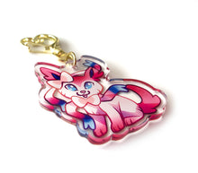 Load image into Gallery viewer, Sylveon Keyring Charm