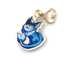 Load image into Gallery viewer, Vaporeon Keyring Charm