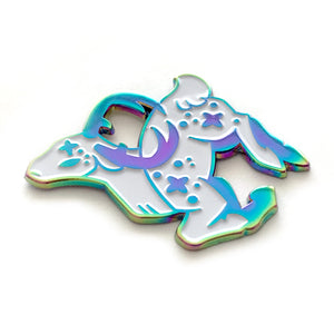 Cosmic Rainbow White Deer Enamel Pin