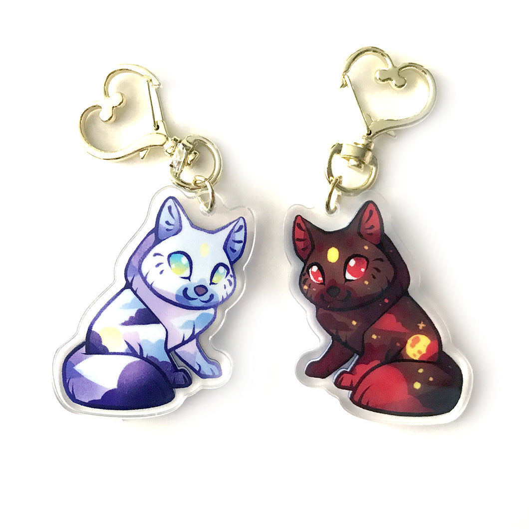 Solar&Lunar Wolves Keyring - version 2