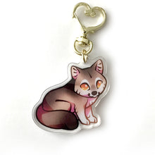 Load image into Gallery viewer, Gray Wolf Keyring