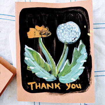 Dandelion Thank You Card