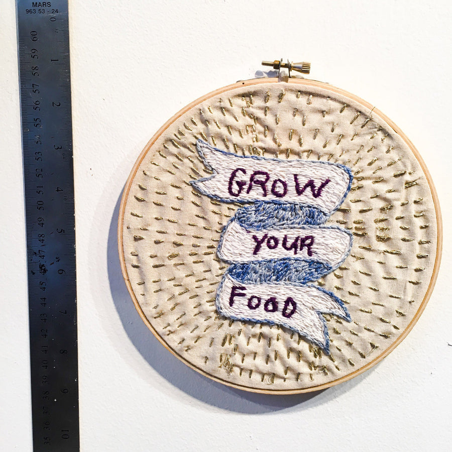 Grow Your Own Food Embroidery