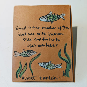 Small is the Number of Them - Albert Einstein Quote Card