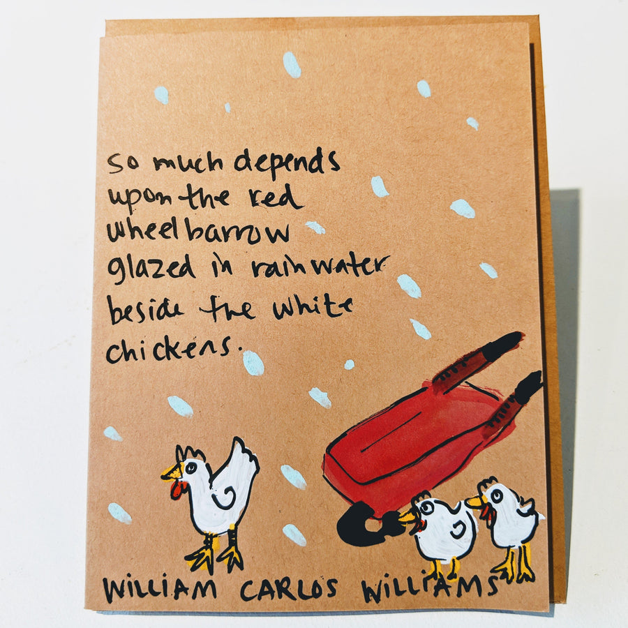 So Much Depends Upon the Red Wheelbarrow - William Carlos Williams quote card
