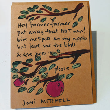 Hey Farmer Farmer - Joni Mitchell Quote Card