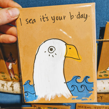 I Sea It's Your Birthday Seagull Card