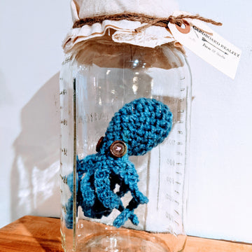 Crochet Octopus in a Jar