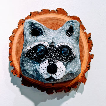 Vegan Taxidermy - Raccoon (Light Face)