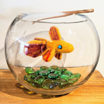 Felt Goldfish in a Bowl