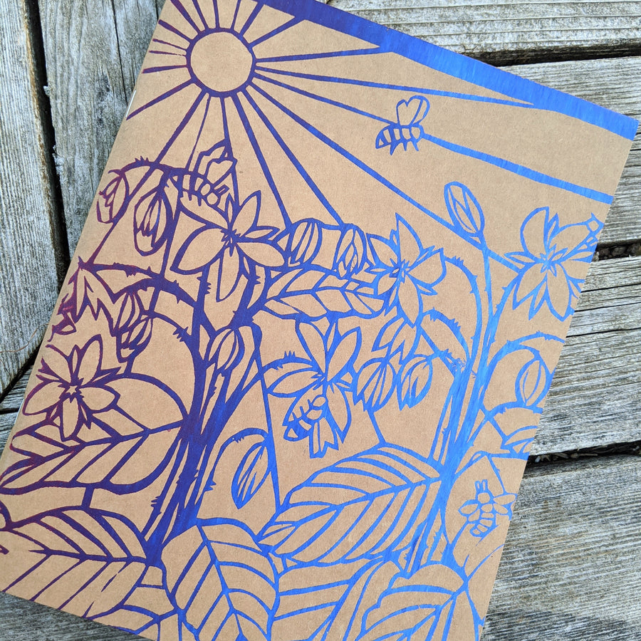 Silkscreened Sketchbook - Bees & Borage Gradient