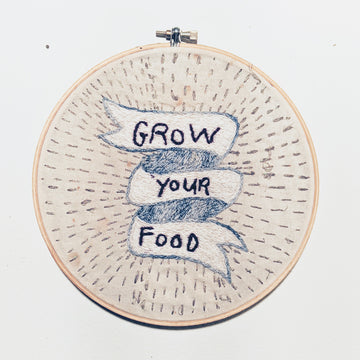 Grow Your Food Embroidery