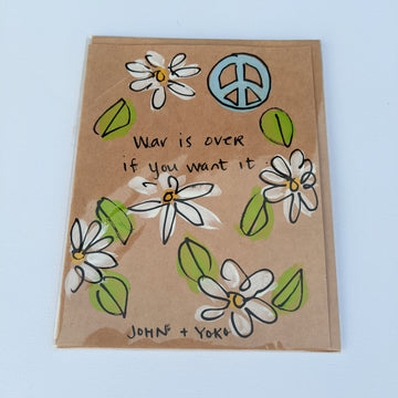 War is Over - John & Yoko Quote Card