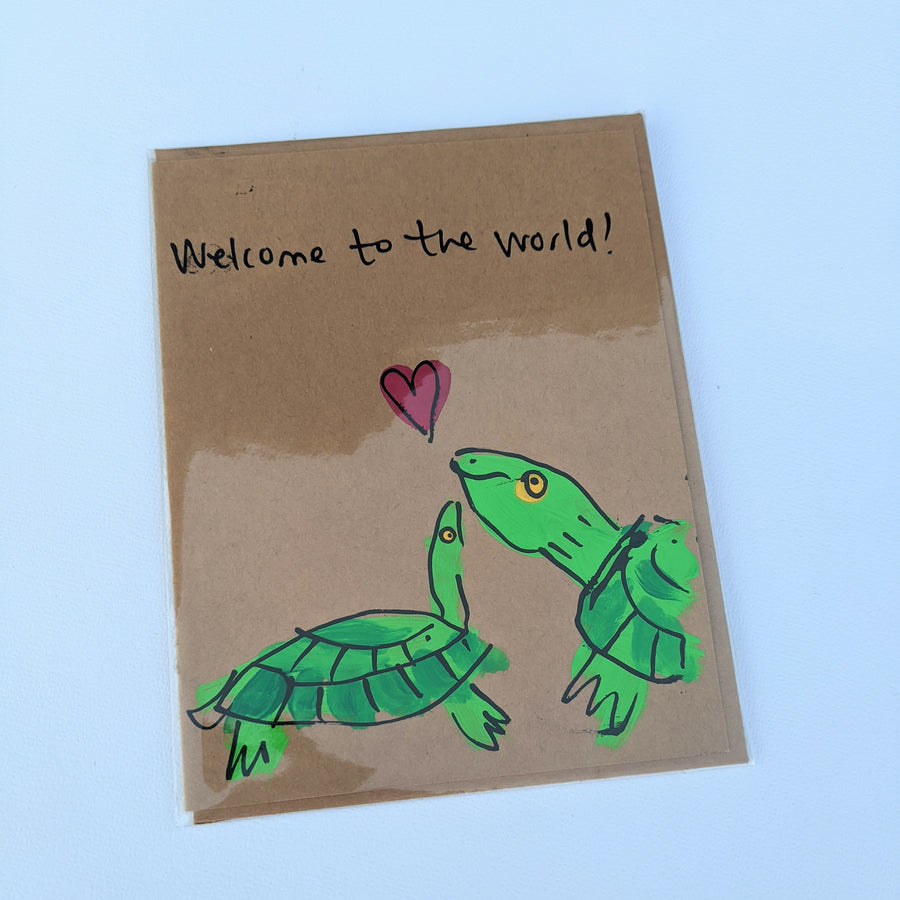 Welcome to the World - Baby Turtle Card