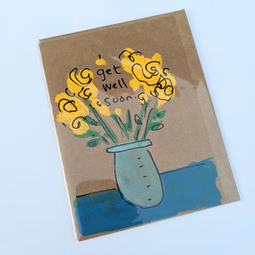 Get Well Soon - Mason Jar Bouquet Card